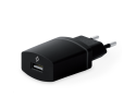 Compact USB Travel Charger, 1A, for iPhone black