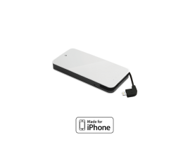 EasyCharge Slim Mobile Charger with MFI 3.000mAh ,White