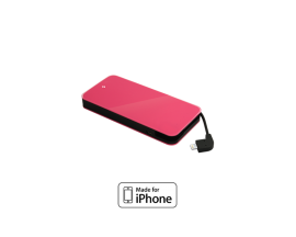 EasyCharge Slim Mobile Charger with MFI 3.000mAh ,Pink