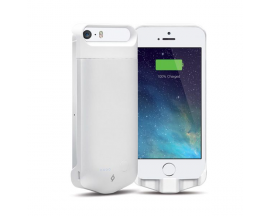 Caffeine Go Battery Case for iPh. 5/5S, White, MFi