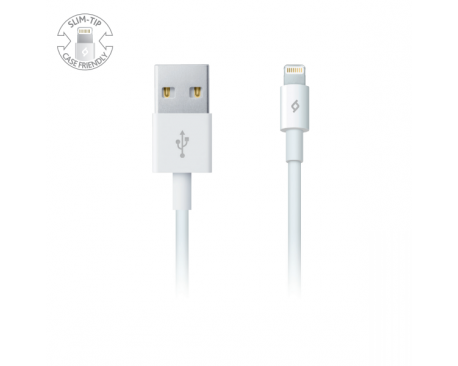 Lightning-USB Charge/Sync Cable, White